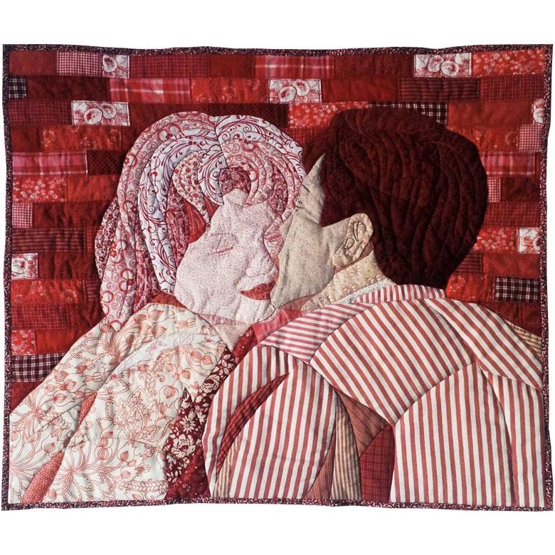 Patchworkbilder: Der Kuss