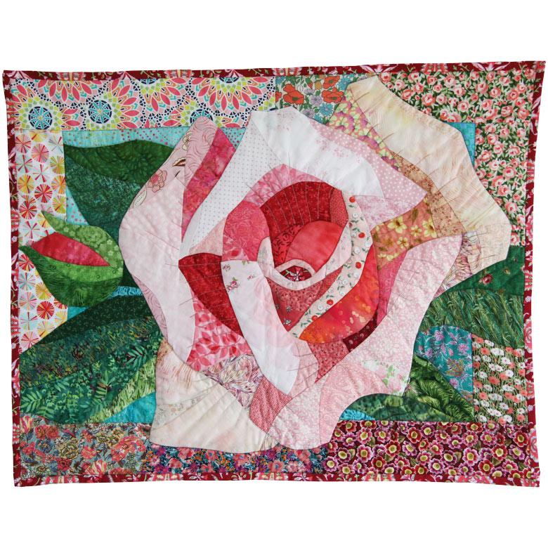 Patchworkbilder: Rose